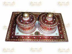 Marble Designer Tray Set