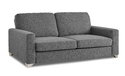Adorn India Straight Line 3 Seater Sofa (grey)