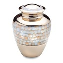 Mother of Pearls Brass Urn