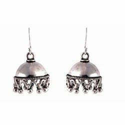 Silver Jhumki Silver Earring