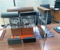 Aluminium Wooden Black Gray Glass Railing for Home