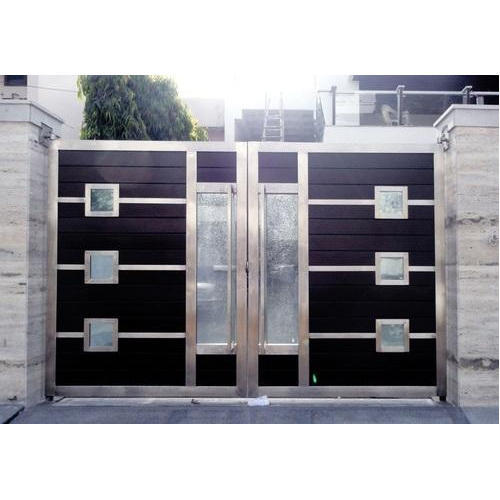 Stainless Steel Modern House Gate Designs: Modern SS Main Gates, Ss Gate, Stainless Steel Darwaja