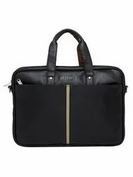 MBOSS Black 5.7 Liter Travel Faux Leather 14 Inch Laptop Messenger Bag