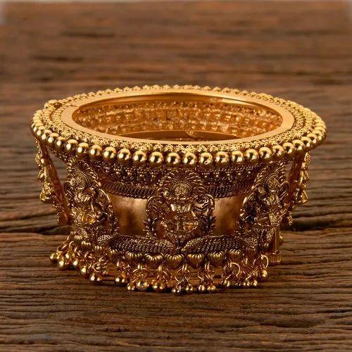 Wedding Wear Antique Matte Gold Plated