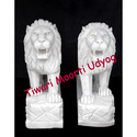 White Marble Lion Statue