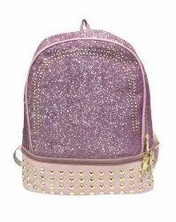 Pink Glittering Girls Backpack
