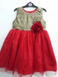 Festive Wear Red Party Frock