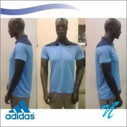 Men Half Sleeves Adidas Dry Fit T Shirt, For Sports & Casual Wear