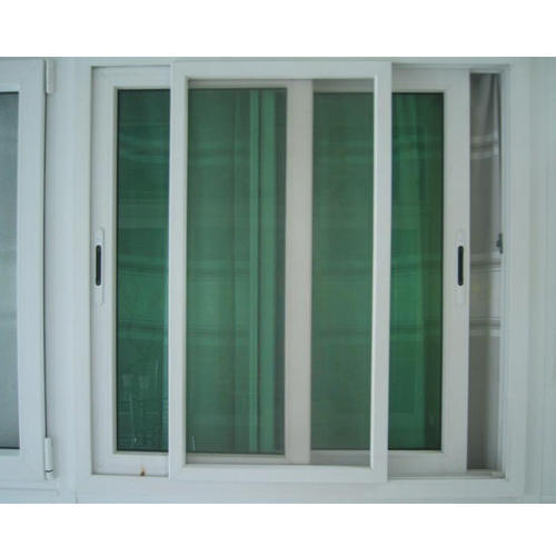 25 Track Upvc Sliding Door 2 Glass Panels 1 Mesh Panel At Rs 380