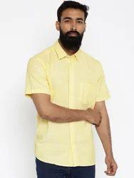 Yellow Half Sleeve Shirts For Men