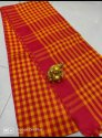Ladies Handloom Khadi Check Cotton Sarees