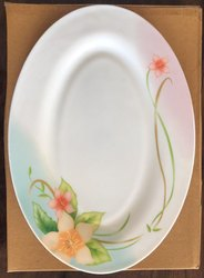 Bone China Printed Treo Rice Plate (Coloured) for Home