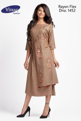 Vitrag Rayon Flex Party Wear Kurti