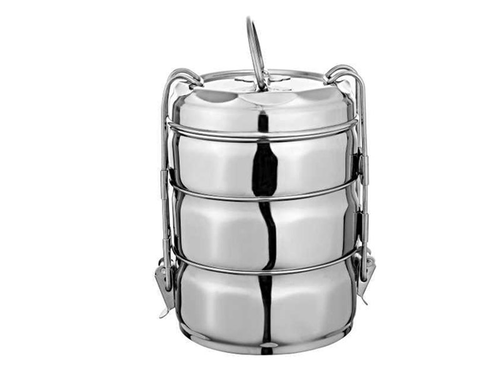 Stainless Steel Clip Cherry Tiffin Box