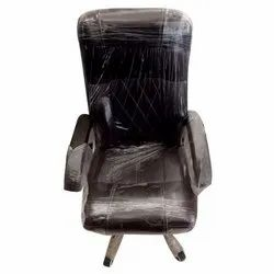 Black Leather Revolving Office Chair