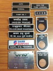 Engraving on Labels