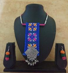 Work Ghungroo Fabric Jewellery