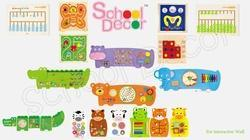 Play School Activity Wall Toys Set ( 18 pcs)