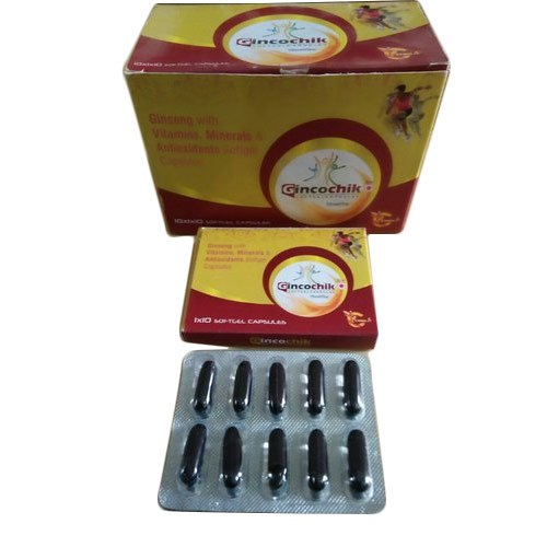 Allopathic Gincochik Capsules, 10 X 1 X 10 Capsules