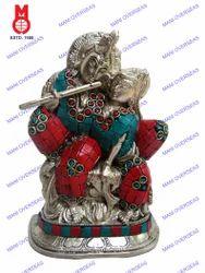 Radha Krishna Sitting in Loving Pose & Stone Work