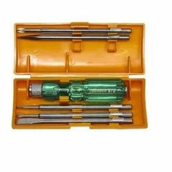 Stainless Steel Taparia Screw Driver Set, C 812, Packaging Type: Loose