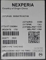 Schmitt Trigger Circuit 74HC164D, 653 NXP