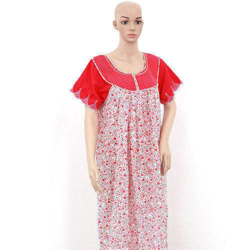 8ed04f9f50 L And XL Red And White Ladies Cotton Nighty, Rs 150 /piece | ID ...