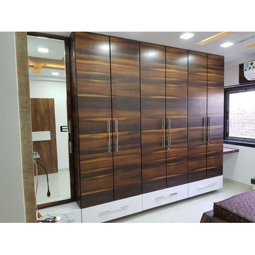 Wooden Brown And White Bedroom Cabinet Almirah, Rs 1300