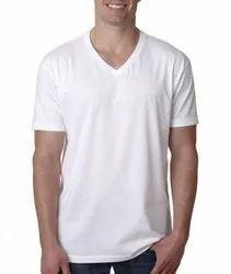 Mens Plain V Neck T-Shirt