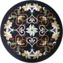 Italian Marble Stone Inlaid Antique Pietra Dura Coffee Table Top