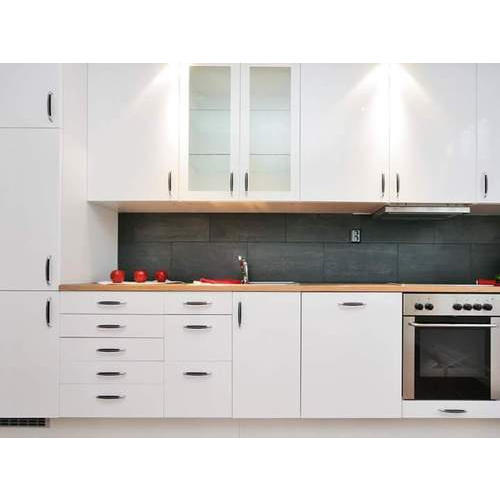 Modern Wood White Modular Kitchen Cabinet Rs 1000 Square Feet Id
