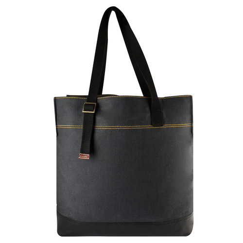 a42442fc146c Black Plain Canvas Tote Bag …