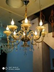 8 Light Glass Crystal Chandelier