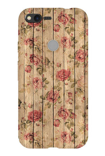 Brown Flowers On Wood Phone Case For Google Pixel Xl Mobile Covers