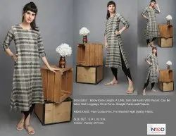 Below Knee Length A Line Kurti
