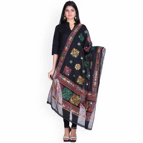 047d500496 Ladies Cotton Black Designer Straight Suit, Rs 2500 /piece   ID ...