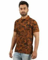 Men''s Printed Polo  T-shirt