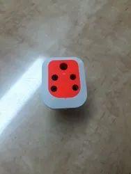 12 A 5 Pin Plastic Electric Socket, 200 -240 V