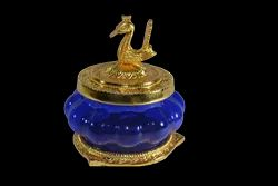 Kubera Lakshmi Pot with Peacock Lid, 175gms, Size: 4.5 Inches X 3.5 Inches
