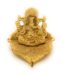 Gold Plated Ganesha Leaf