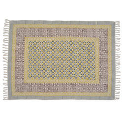 Cotton printed contemporary rugs
