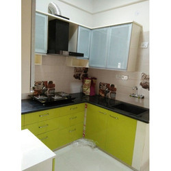 Acrylic Kitchen With SS Work