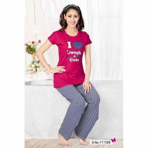 de9225e857 Cotton Jinudi Ladies Printed Stylish Night Suit, Rs 495 /piece   ID ...