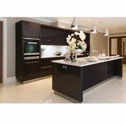 Island Straight Designer Kitchen
