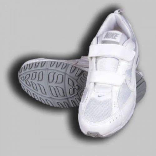 Nike White Velcro School Shoes