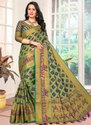 Green Kesari Exports Banarasi Silk Patola Sarees, Packaging Type: International Box