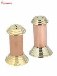 Copper Brass Salt Pepper Set