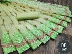 Heavy Organza Ladies Indian Wear Saree