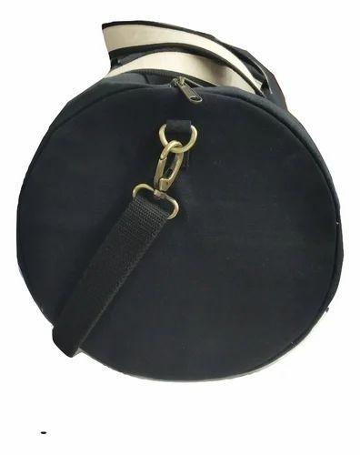 Dark Blue Plain Waxed Canvas Duffle Bag bc91e79040efb
