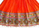 Orange Rayon kutch Embroidered Chaniya Choli